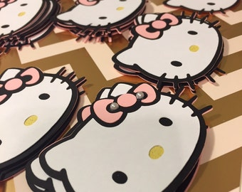 HK Inspired Cupcake Toppers ( 12 pieces)