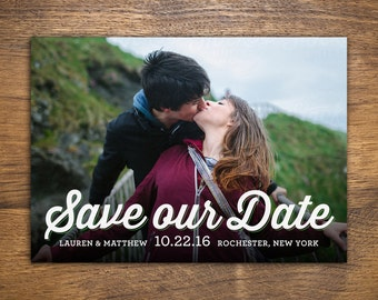 Custom Save-the-Date Card for Wedding with Photo | Printable PDF