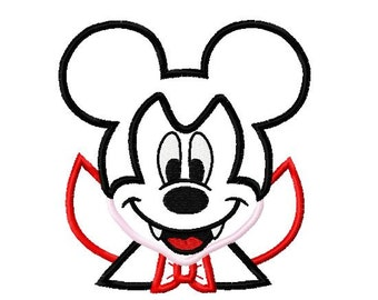 Character Inspired Mouse Vampire Boy Embroidery Applique Design
