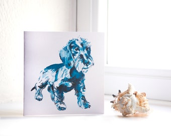 Wire-Haired Dachshund - Dog Illustrated Greeting Card