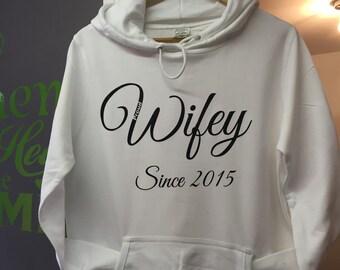 Proud wifey jumper, hoodie, sweatshirt
