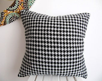 Houndstooth Pillow Case,Houndstooth Pillow Cover,Houndstooth Cushion Cover,Houndstooth Throw Pillow,Knit Pillow Case,Accent16'' x 16''