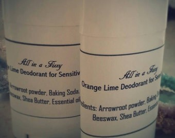All natural deodorants for sensitive skin.