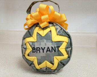 Personalized ACU Quilted Ornament