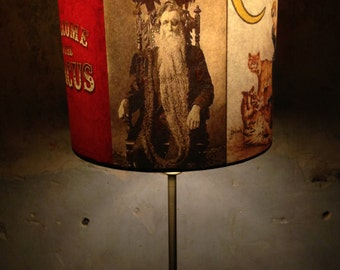 Vintage Side Show Freak show Circus Inspired Lampshade 'CIRCUSSTRANGE'