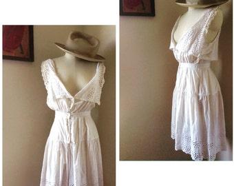 Victorian white eyelet lingerie/undergarment culottes.
