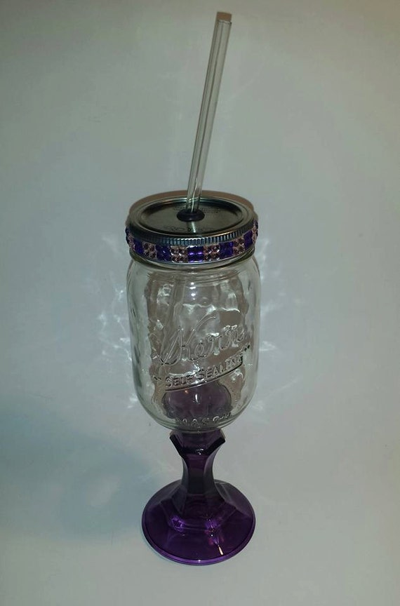 Items Similar To Colored Stem Redneck Wine Glass Drinkable