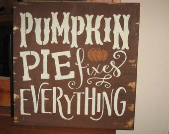 Pumpkins Pies......handmade wall hanging/primitive/shabby chic/saying/ Halloween/fall/ thanksgiving/holiday/board/sign