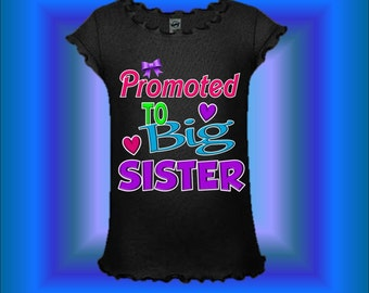 Big Sister Shirt - Big Sister Announcement Shirt - Dress Available