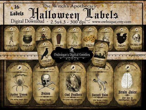 Vintage printable apothecary labels vintage apothecary Vintage halloween decorations uk