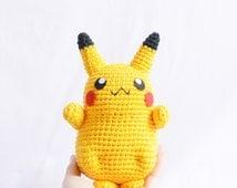 Pikachu, Amigurumi, Pokemon GO, Pokémon Amigurumi, Pikachu Plush, Crochet dolls, Stuffed animals, Mini pokemon, Pokemon, Snorlax, Eevee