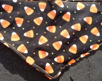 Halloween bandana candy corn bandana, pet, dog cat bandana