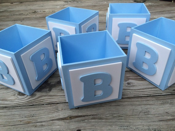 abc baby block centerpiece block baby boy centerpieces baby shower