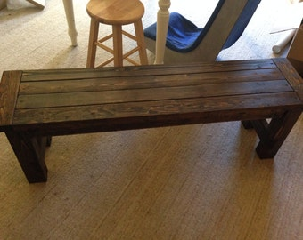 Farm House Bench (Local Pick Up/Delivery ONLY)