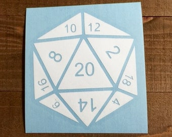 D20 Dice Decal