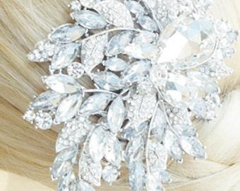 Crystal Bridal Comb, BEDAZZLED ROYALTY Crystal Bridal Headpiece, Luxury Wedding Headpiece, Couture Bridal Headpiece, Bridal Comb,  Headpiece
