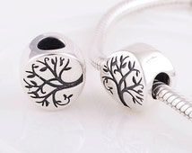 Authentic 925 sterling silver tree of life charm fits pandora bracelet jewelry