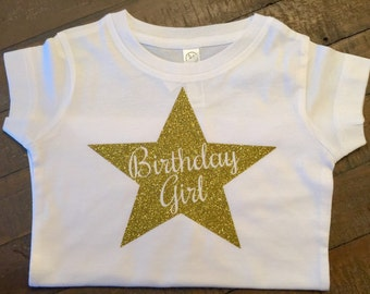 Star Birthday Girl shirt - available in other colors