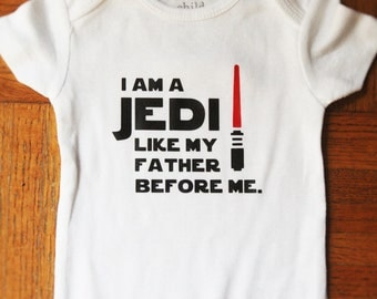 Jedi Like My Father Before Me Onesie