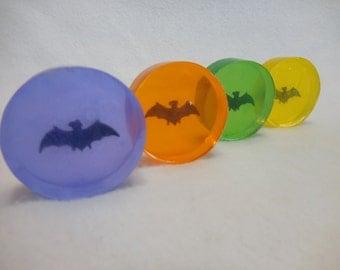 A Little Batty Soap - Halloween Soap - Bat Party Favor - Bat Soap - Mini Glycerin Soap - Kids Gift Soap - Unique Childrens Soap - 5 pk