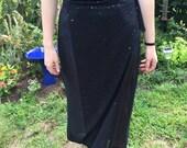 Handmade Black Skirt Cover-Up
