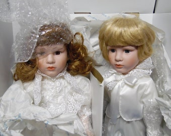 RARE Flower Girl and Ring Bearer #638/2500 MARIAN YU dolls