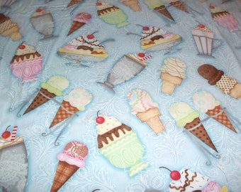 Ice Cream Cotton Fabric