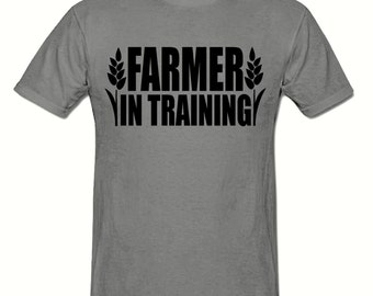 Farmer in training t shirt,men's t shirt sizes small- 2xl, gift,Farming t shirt