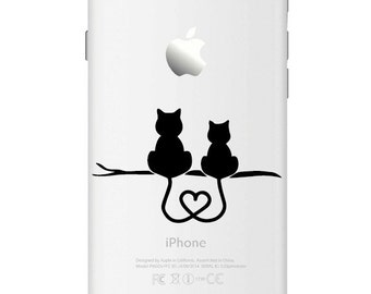 D760 Love of cats Iphone Vinyl Decal Sticker for Apple iPhone (4, 5, 6, 6+)
