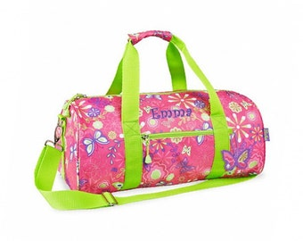 Personalized Bixbee Butterflies and Flowers Duffel Bag - Large