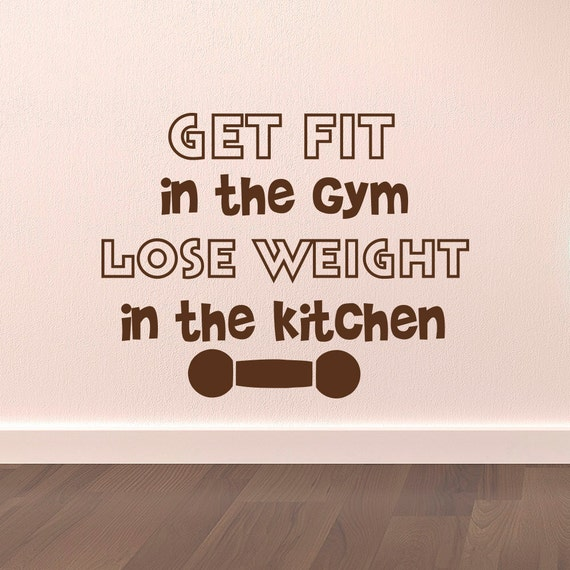 Gym wall decal fitness quotes get fit in the by