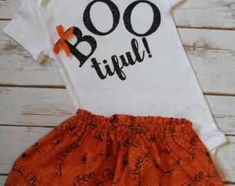 Bootiful Onesie, Halloween Outfit, Halloween Onesie, Girl Onesie, Girl Halloween Outfit