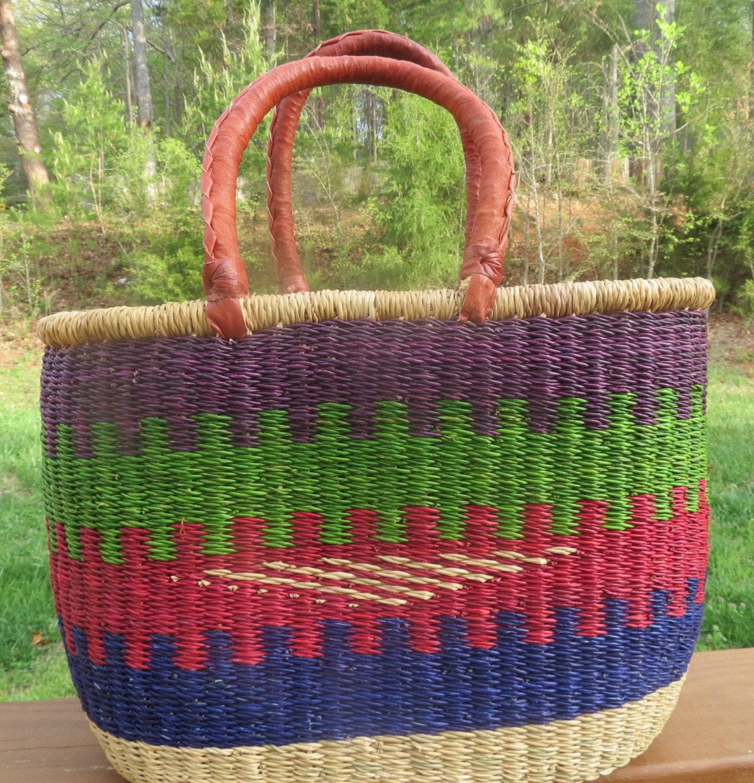 African Woven Baskets: Hand Woven African Basket