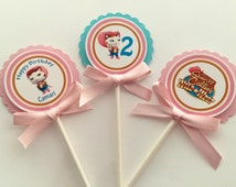 Sheriff Callie Cupcake toppers. Sheriff Callie birthday. Sheriff Callie Party.