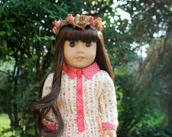 Autumn Themed Flower Crown for 18in Dolls