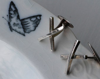 Efva Attling, Sweden. Sterling Silver Cufflinks.