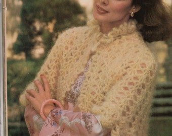 Pattern for Mohair capelet
