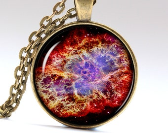 Galaxy Necklace Space Necklace Nebula Necklace Universe Necklace Galaxy Pendant Galaxy Jewelry Space Jewelry Space Pendant Universe  LG210