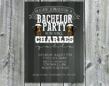 Bachelor Party Invitation, Stag Night Invite, Wedding Bash, Chalkboard, Beer