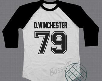 Dean Supernatural shirt baseball tee raglan tshirt unisex size S - L