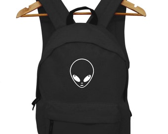 Alien Logo Funny Galaxy Backpack Stupid bag Hipster Dope Weird Back Pack Space Ruck Sack School College