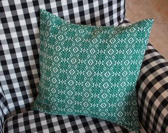 Green Retro Pillow Case