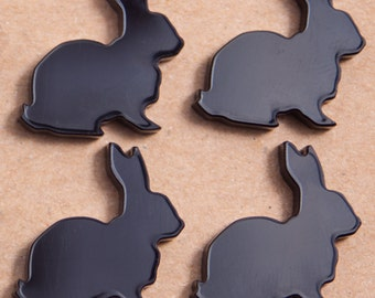 Black Laser Cut Acrylic Bunnies