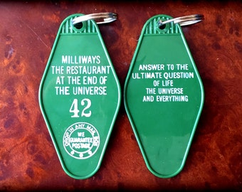 Hitchhiker's Guide To The Universe Inspired Milliways The Restaurant At The End of The Universe Keytag