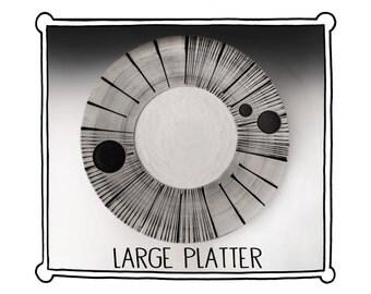 Large Platter (Black and White)