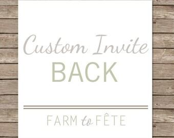 Add On: Custom Back