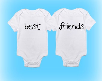 Twins Onesies®- Baby Boy - Baby Girl - Baby Clothing - Unique Shower Gift - Baby Shower Gift - Baby Gift Idea-Best Friends Onesies for Twins