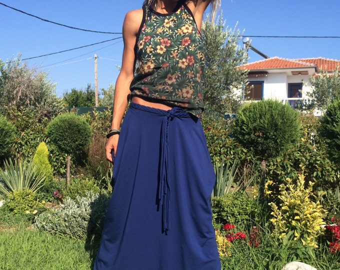 Womens Harem Pants, Extravagant Cotton Low Bottom, Casual Summer Trousers, Drop Crotch Pants by SSDfashion