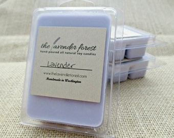 lavender // hand-poured soy wax melt tarts // natural soy wax // highly scented