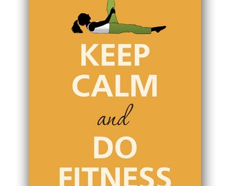 Keep calm and do fitness